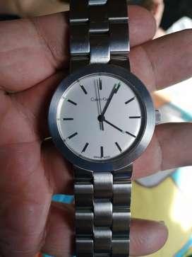 Reloj Calvin Klein automático en acero suizo cristal zafiro por delante y por detrás