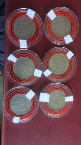 Monedas 50 Centavos Giradas Varios Años UNICAS