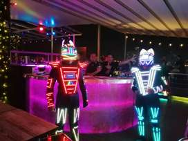 Robot led man solo video llamada