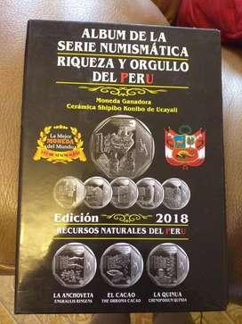 Álbum Completo Serie Numismática Del Perú