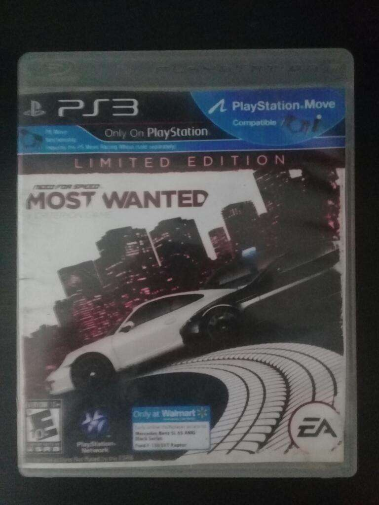 Need For Speed Most Wanted Ps3 Play 3 Cambio 0