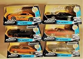 Carros de colección rápido y furioso metálicos