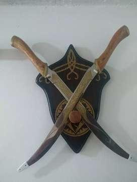 Vendo colección de espadas en acero