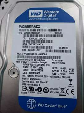 Disco duro de 500gb western digital