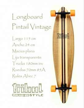 Longboard vintage pintail