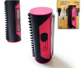 Cepillo King Komb de 3 cuchillas con cerdas de goma para perros y gatos