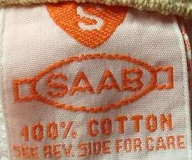 Toalla para manos algodón Marca SAABO color beige motivo de hojas marronesMedidas: 73.6 cm x 39.7 cm. Muy buen estado