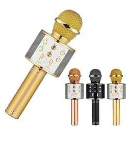 Microfono inalámbrico recargable con bluetooth de para karaoke con parlante