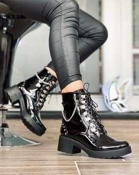 Zapato Botas Rockeras  Para Mujer