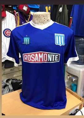 Camiseta racing retro azul s al xl