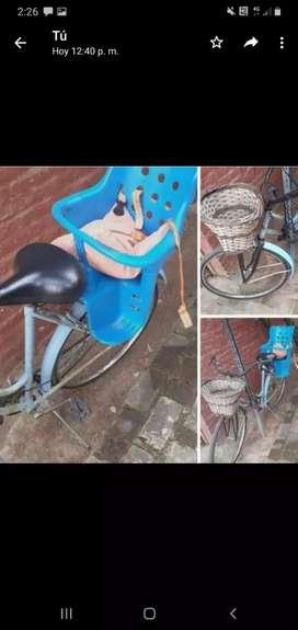 VENDO Bicicleta Usada De regalo Linga con 2 llaves y sillita