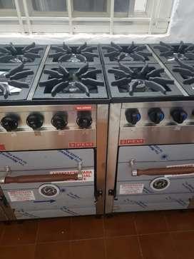 Cocina Industrial Pevi 4 Hornallas Horno Pizzero Nuevas