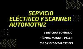 Servicio Eléctrico y Scanner AUTOMOTRIZ certificado