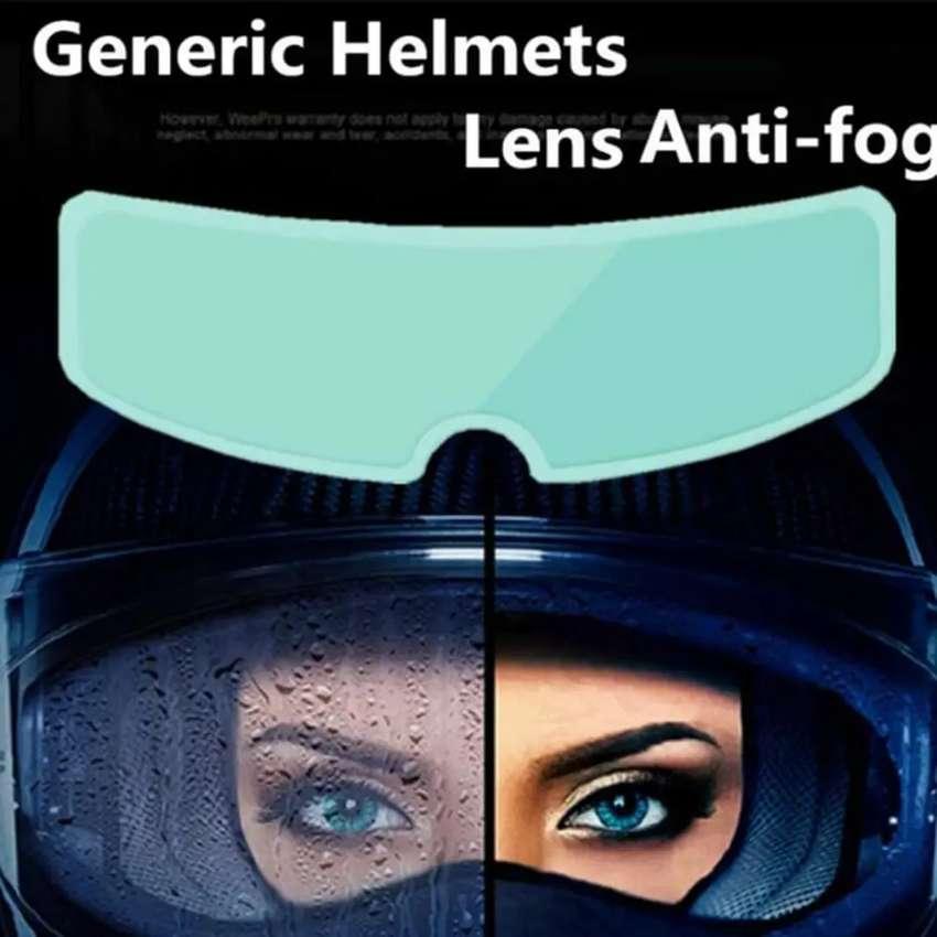 Visor anti lluvia y  visor antiempañante casco moto