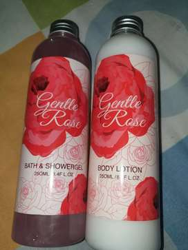 BATH SHOWERGEL & BODY LOTION GENTLE ROSE MADE IN GERMANY