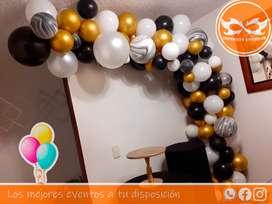 Arco para grado servicio de decoración para graduación, cumpleaños que esperas para todo tipo de fiesta comunicate