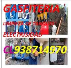 GASFITERO REPARACION DE TUBERIAS DE AGUA Y DESAGUE FUGAS AGUA CAMBIO DE TUBOS FILTRACIONES LIMPIEZA DE TANQUES