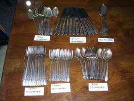 Cubiertos Antiguedad Cuchillos Tenedores Cucharas Plata