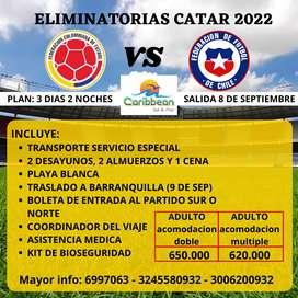 PARTIDO DE FUTBOL COLOMBIA VS CHILE