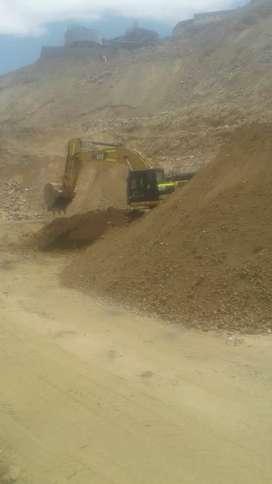 Chofer de retro excabadora