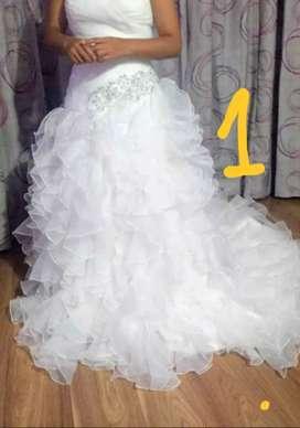 Oferta vestido de novia color evory