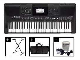 Combo Yamaha PSR E463 Music Box Colombia Teclado organeta base Estuche Clases