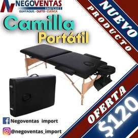 Camilla portátil RESISTENTE hasta 250Lbrs