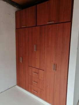 Se fabrican closet empotrados cocinas integrales puertas en melamina RH