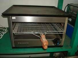 Carlitero a gas de excelente calidad de acero inoxidable, línea gastronómica, Marca Depaolo