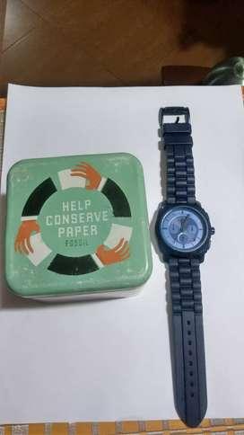 Reloj fossil original azul vendo o permuto