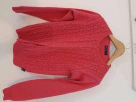 Saco  de lana rosado