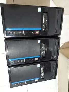 3 torres PC para repuestos, funciona unidad de DVD + memoria RAM  + fuente de poder
