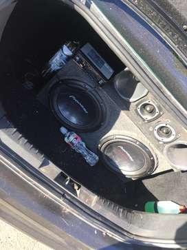 Audio car completo con gel cargador y stereo