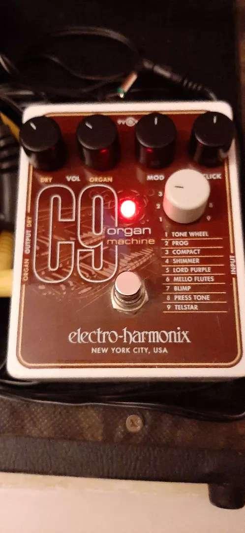 Liquído pedal EHX C9 Organ Machine para Guitarra 0