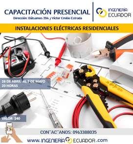 CAPACITACION PRESENCIAL: INSTALACIONES ELECTRCIAS RESIDENCIALES