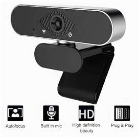 Camara Web Pro Webcam Full HD 1080P Con Micrófono Incorporado USB