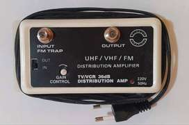 Amplificador TV o CATV 36dB Ajustable UHF/VHF/FM