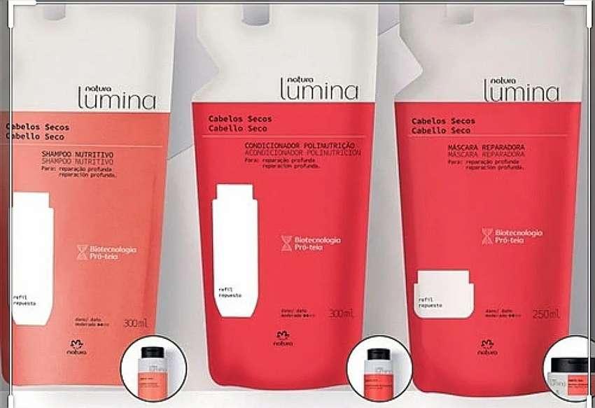 Shampoo, acondicionador y Mascara seco lumina respuesto 0