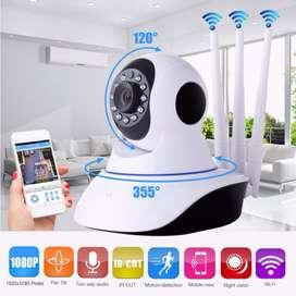 Camara Seguridad Wifi Full HD Robotica 360º Tres Antenas, Ip Audio Visión Nocturna
