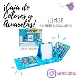 Caja de Acuarelas y colores