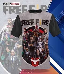 CAMISETAS FREE FIRE FREEFIRE FORTNITE DRAGON BALL GOKU SPIDERMAN PUBG
