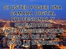 CLASE DE FOTOGRAFÍA DIGITAL PARA APRENDER EL MANEJO DE LOS CONTROLES DE SU CÁMARA DIGITAL PROFESIONAL