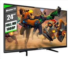 LLEVALO HOY a 20000. Tv Led Monitor Led 24 Kanji Full Hd 1080p C/parlante