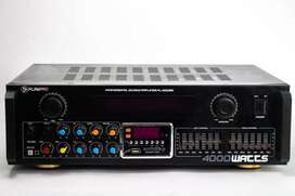 Combo Teatro en Casa Bafles DK4 (2) y DK5 (1) white Vento con Amplificador de Linea Playpro4000BT
