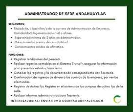 ADMINISTRADOR DE SEDE - ANDAHUAYLAS