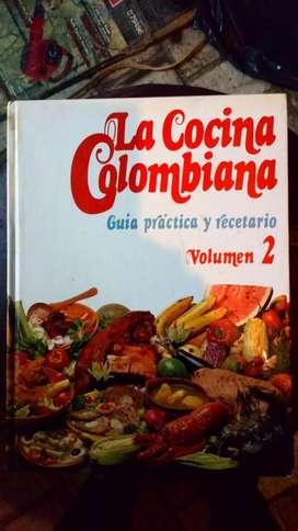 2LIBROS DE COCINA COLOMBIANA TOMO 2. EN BUEN ESTADO