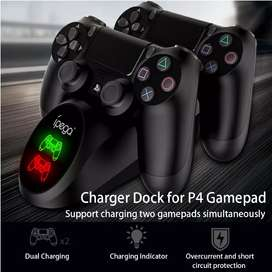 Base doble cargador controles de PS4