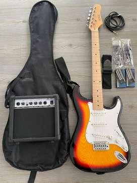 Guitarra electrica con todos sus accesorios
