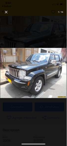JEEP CHEROKEE LIMITED, MODELO 2008, GASOLINA, 5 PUERTAS, CILINDRADA 3.7 V6, DOBLE Y BAJO, GRAN CAPACIDAD DE CARGA.