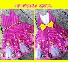 Vestido Princesa Sofia Escote en V